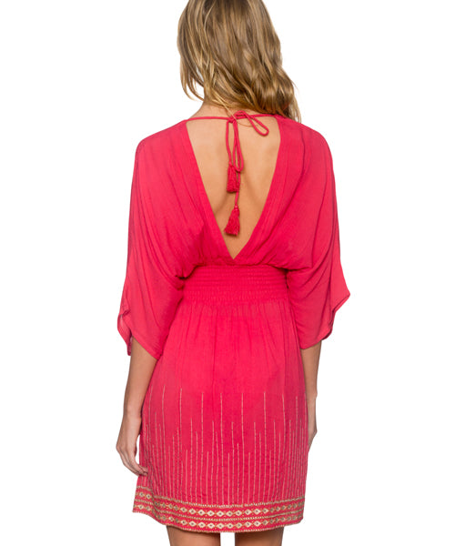 Sunsets Separates Lover's Coral - Kayla Kimono Cover Up Dress