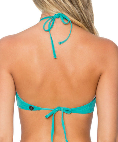 Swim Systems Marine Green - Elevate Halter Bikini Top - Beachbliss Swimwear & Apparel - 2