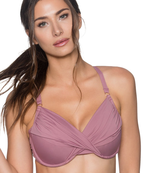 Swim Systems Mauvelous - Crossroads Underwire Bikini Top