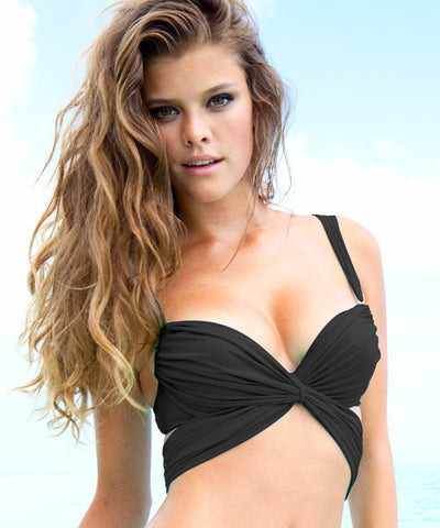 Sauvage Luxe - Mon Cheri Twist Wrap Push Up Bikini Top - Beachbliss Swimwear & Apparel - 2