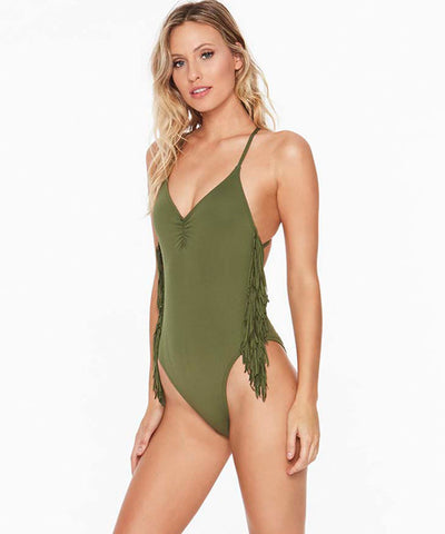 L*Space Fringe Gypsy One Piece Swimsuit - Jungle