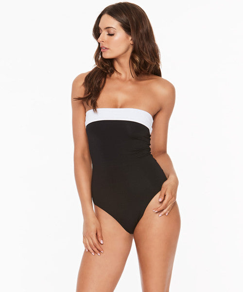 L*Space Domino Mustang High Leg One Piece Swimsuit