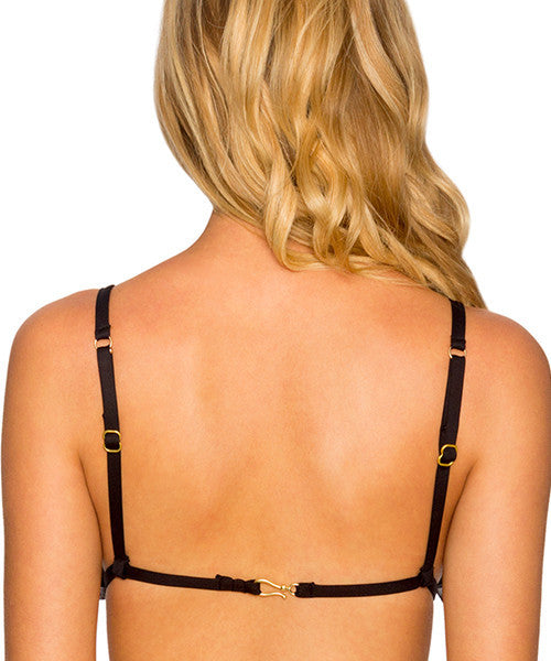 B Swim Noir - Show Stopper Triangle Bikini Top - Beachbliss Swimwear & Apparel - 2