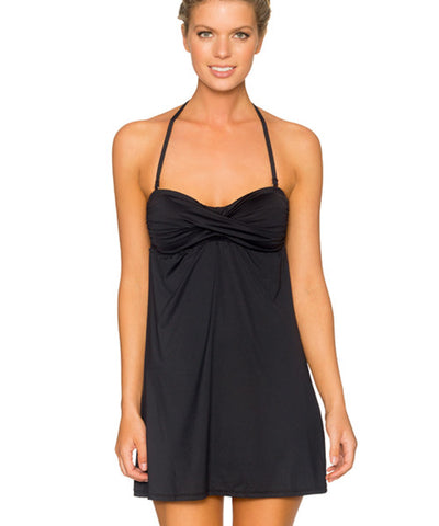 Swim Systems Onyx - Bandeau Cover Up Dress - Beachbliss Swimwear & Apparel - 1