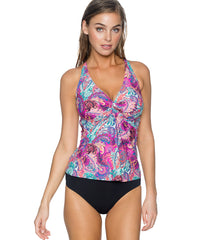 Sunsets Separates Paisley Peacock - Forever Underwire Twist Tankini Top