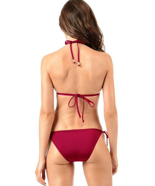 Voda Swim Envy Push Up String Bikini Top in Raspberry - Beachbliss Swimwear & Apparel - 4