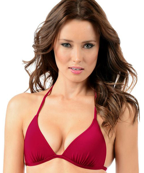 Voda Swim Envy Push Up String Bikini Top in Raspberry - Beachbliss Swimwear & Apparel - 1