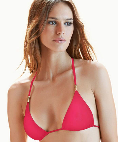ViX Solid Raspberry - Lucy Triangle Bikini Top - Beachbliss Swimwear & Apparel - 1