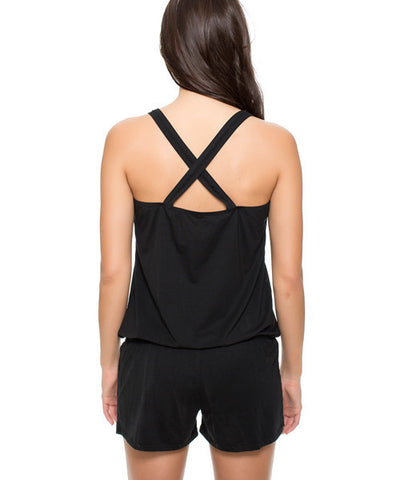 Reef - Solid Romper in Black - Beachbliss Swimwear & Apparel - 2