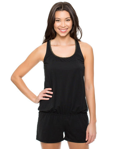 Reef - Solid Romper in Black - Beachbliss Swimwear & Apparel - 1