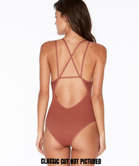 L*Space Ridin' High Ribbed Dakota One Piece Classic Cut Swimsuit - Sahara