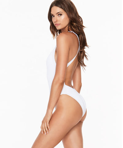 L*Space Ridin' High Flash One Piece Swimsuit - White