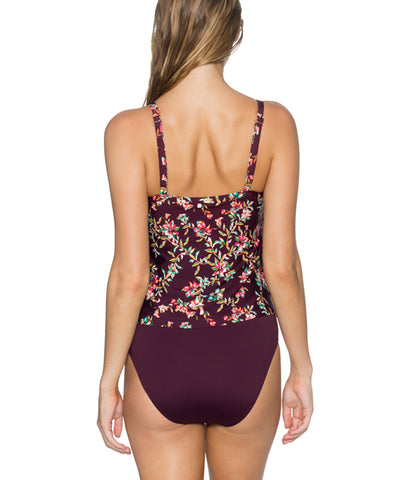 Sunsets Separates Rosewood Vines - Ava Tiered Underwire Tankini
