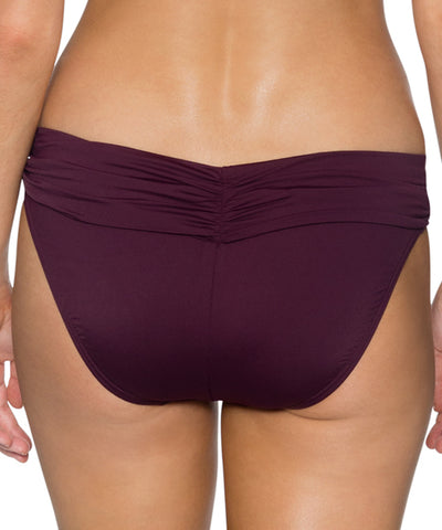 Sunsets Separates Rosewood - Unforgettable Shirred Waist Bikini Bottom
