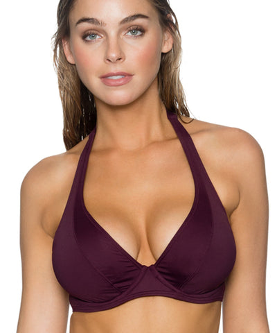 Sunsets Separates Rosewood - Muse Halter Underwire Bikini Top