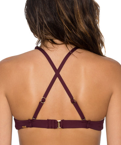 Sunsets Separates Rosewood - Hollywood Hi-Neck Bikini Top