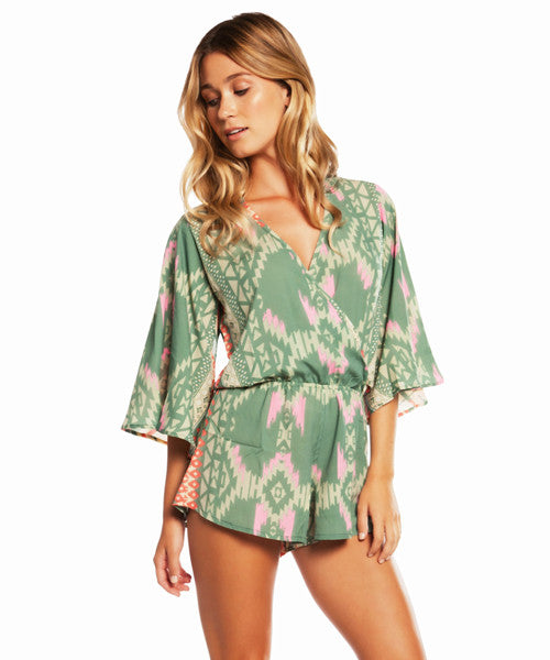 Elan - Santa Fe V-Neck Romper - Beachbliss Swimwear & Apparel - 1