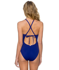 Sunsets Separates Sapphire - Bond Plunge One Piece Swimsuit