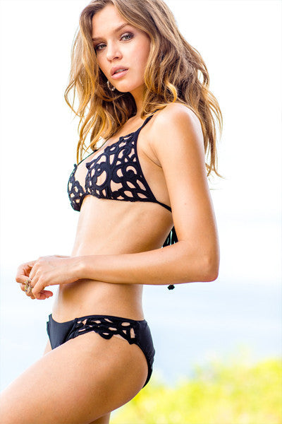 Sauvage Luxe - Lavish Laser Cut Triangle Bikini Top - Beachbliss Swimwear & Apparel - 3