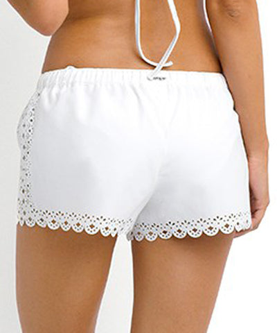 Seafolly - Bella Boardshorts in White - Beachbliss Swimwear & Apparel - 2