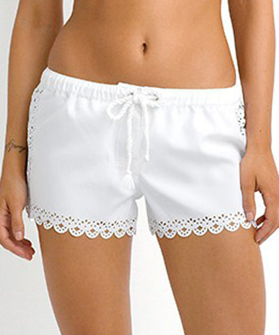 Seafolly - Bella Boardshorts in White - Beachbliss Swimwear & Apparel - 1