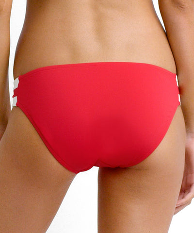 Seafolly - Block Party Spliced Hipster Bikini Bottom in Chilli Red - Beachbliss Swimwear & Apparel - 2