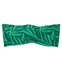 Kovey - Seaside Reversible Bandeau Top in Banana Leaf - Beachbliss Swimwear & Apparel - 4
