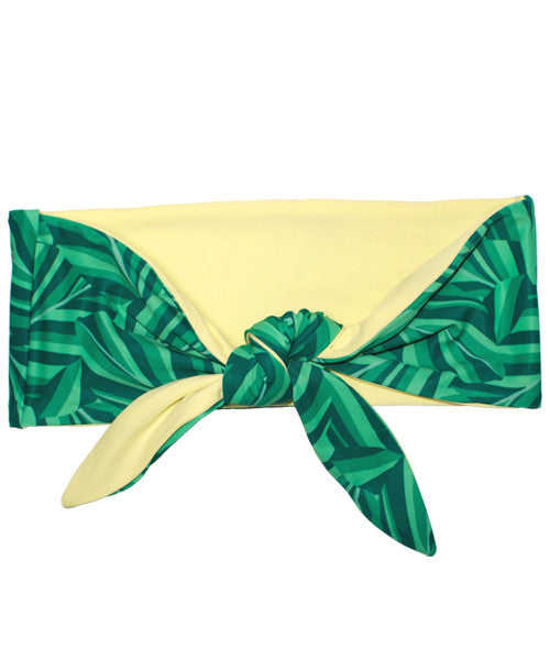 Kovey - Seaside Reversible Bandeau Top in Banana Leaf - Beachbliss Swimwear & Apparel - 1