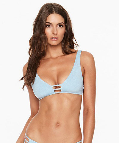 L*Space Shine On Me Monroe Bikini Top - Sky Blue