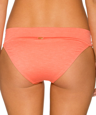 Sunsets Separates Sunkissed Melon - Side Shirred Bikini Bottom - Beachbliss Swimwear & Apparel - 2