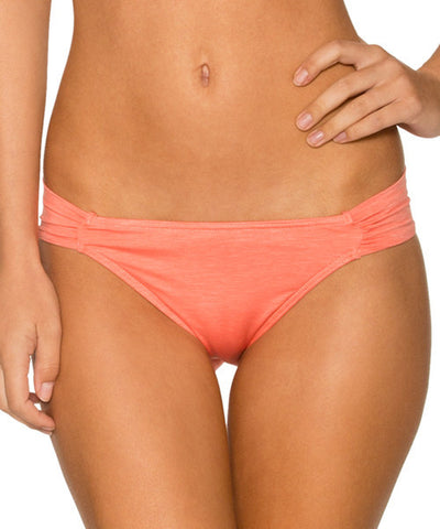 Sunsets Separates Sunkissed Melon - Side Shirred Bikini Bottom - Beachbliss Swimwear & Apparel - 1