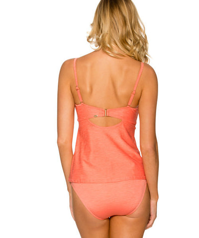 Sunsets Separates Sunkissed Melon - Iconic Twist Underwire Bandeau Tankini - Beachbliss Swimwear & Apparel - 2