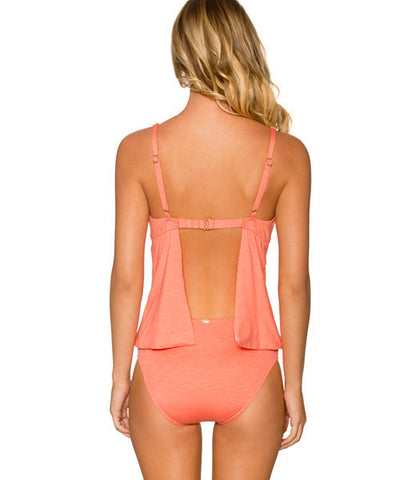 Sunsets Separates Sunkissed Melon - Audrey Apron-Back Underwire Tankini Top - Beachbliss Swimwear & Apparel - 2
