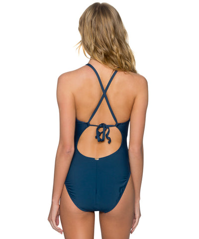 Sunsets Separates Slate - Bond Plunge One Piece Swimsuit