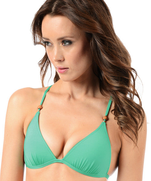 Voda Swim Envy Push Up Razor Back String Bikini Top in Spearmint - Beachbliss Swimwear & Apparel - 1