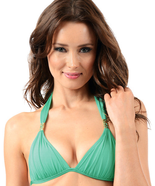 Voda Swim Envy Push Up Tube String Bikini Top in Spearmint - Beachbliss Swimwear & Apparel - 1