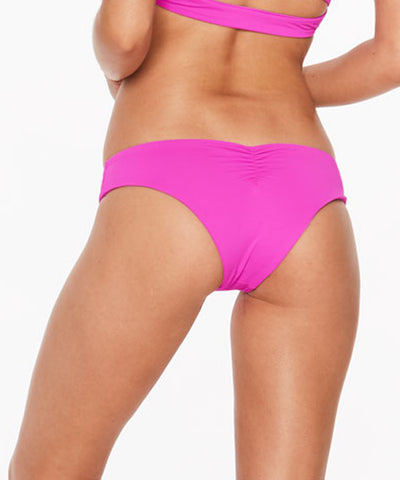 L*Space Sensual Solids Monique Bitsy Cut Bikini Bottom - Bright Fuchsia - Beachbliss Swimwear & Apparel - 2
