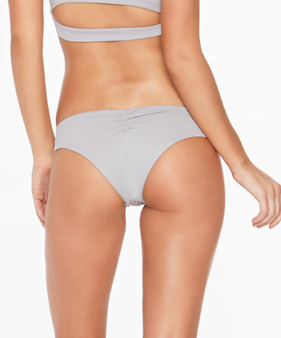 L*Space Sensual Solids Monique Bitsy Cut Bikini Bottom - Fog Grey - Beachbliss Swimwear & Apparel - 2