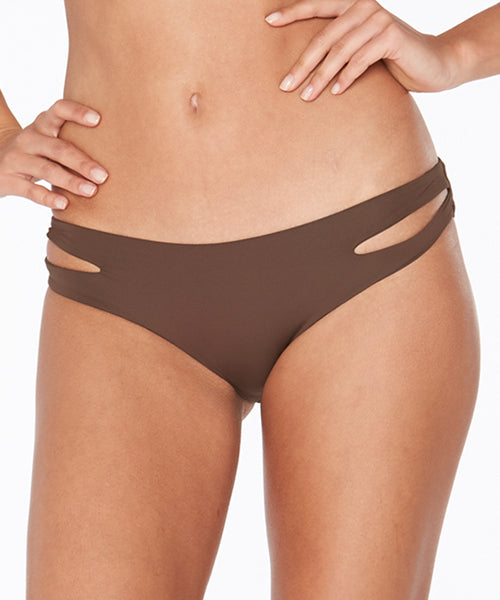 L Space Sensual Solids Estella Full Cut Bikini Bottom - Chocolate ... 59ae59857