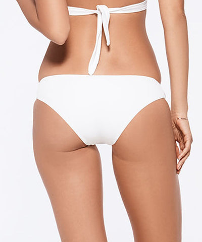 L*Space Sensual Solids Estella Classic Cut Bikini Bottom - White - Beachbliss Swimwear & Apparel - 2