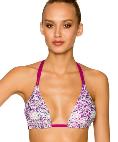 Aerin Rose St. Tropez - Macrame Back Slide Triangle Bikini Top - Beachbliss Swimwear & Apparel - 1