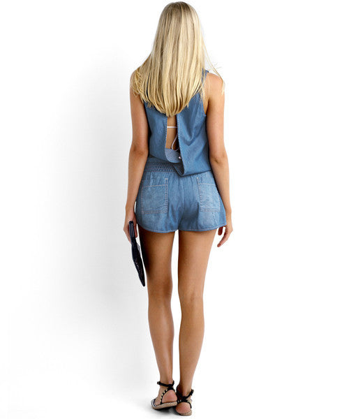Seafolly - Summer Crush Out Detention Playsuit - Beachbliss Swimwear & Apparel - 4