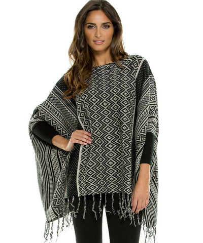 Elan - Aztec Penguin Sleeve Black Sweater - Beachbliss Swimwear & Apparel - 1