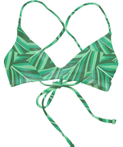 Kovey - Swell Cross Back Bikini Top in Banana Leaf - Beachbliss Swimwear & Apparel - 1