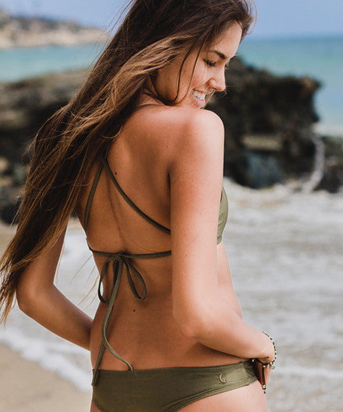 Kovey - Swell Cross Back Bikini Top in Mangrove - Beachbliss Swimwear & Apparel - 5
