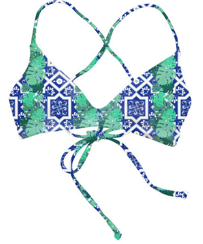 Kovey - Swell Cross Back Bikini Top in West Indies - Beachbliss Swimwear & Apparel - 1