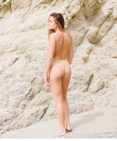 Kovey - The Surfari One Piece Swimsuit in Peach