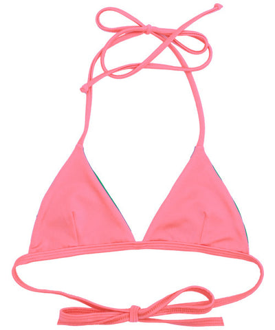 Kovey - Peaks Reversible Triangle Bikini Top (Peachy/Vine) - Beachbliss Swimwear & Apparel - 1