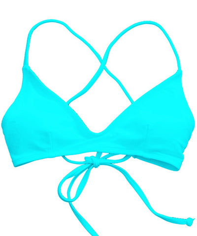 Kovey - Shred Cross Back Bikini Top in Cabo - Beachbliss Swimwear & Apparel - 1