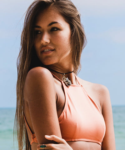 Kovey - Bay Bikini Top in Hot Coral - Beachbliss Swimwear & Apparel - 2
